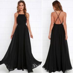 Lulus Mythical Kind of Love Black Maxi Dress